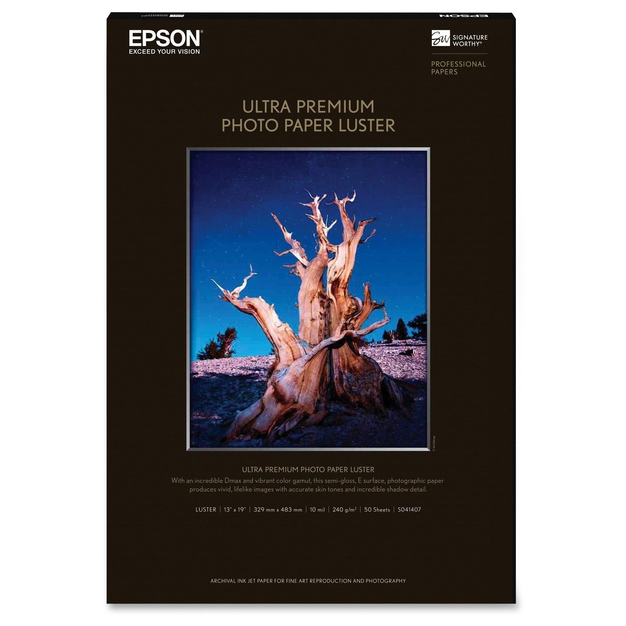 Epson Photo Paper (50 Sheet 13 X 19 Premium Lustersuplpho...