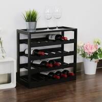 Kinbor 20 Bottle Wine Storage Rack 5-Tier Wine Display Shelf with Table Top