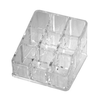 Bulk Buys Open Top Multi Cell Acrylic Cosmetic and Jewelry Organizer - 12 Pack - Clear - N/A
