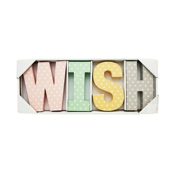 Bulk Buys 4 Piece Wish Letters Wall Decor - 2 Pack