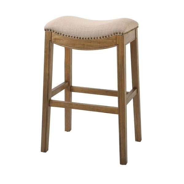Shop Copper Grove Bezons Saddle Seat 30 In Bar Stool