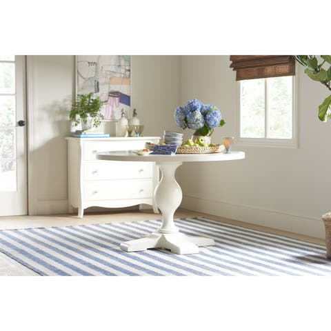 Young House Love Pedestal Table - White