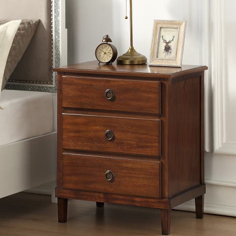 Canfield Brown 3-drawer Nightstand by Greyson Living