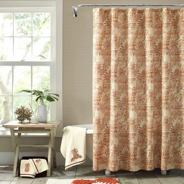 Shop Tommy Bahama Batik Pineapple Shower Curtain Free