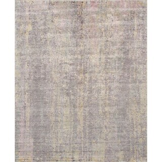 Pasargad Modern Gemstone Hand-Knotted Silk & Wool Area Rug