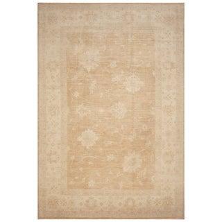 Handmade Vegetable Dye Oushak Wool Rug (Afghanistan) - 7'10 x 11'9