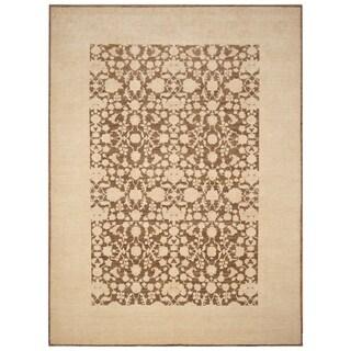 Handmade Vegetable Dye Oushak Wool Rug (Afghanistan) - 9' x 12'