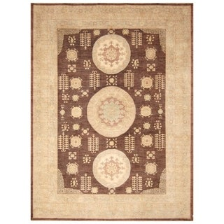 Handmade Vegetable Dye Khotan Wool Rug (Afghanistan) - 9' x 12'