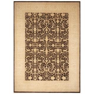 Handmade One-of-a-Kind Vegetable Dye William Morris Wool Rug (Afghanistan) - 8'9 x 11'9