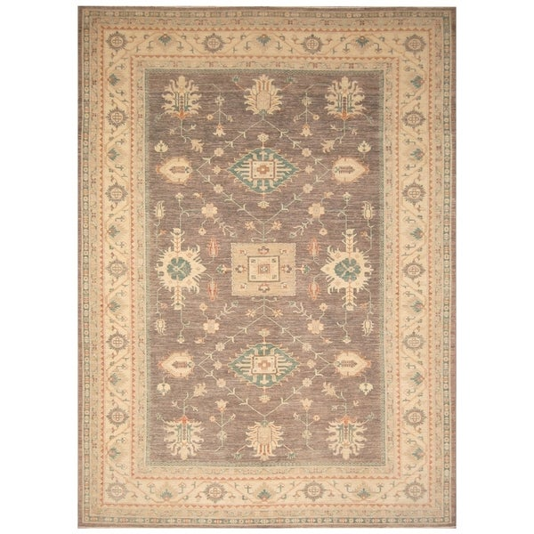 Handmade Vegetable Dye Khotan Wool Rug (Afghanistan) - 8'10 x 12'5