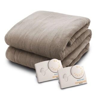 Biddeford 2034-9031210-700 MicroPlush Electric Heated Blanket King Taupe