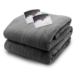 Biddeford 2033-905191-903 MicroPlush Electric Heated Blanket Queen Gray