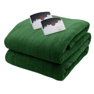 Biddeford 2034-905191-641 MicroPlush Electric Heated Blanket King Hunter Green