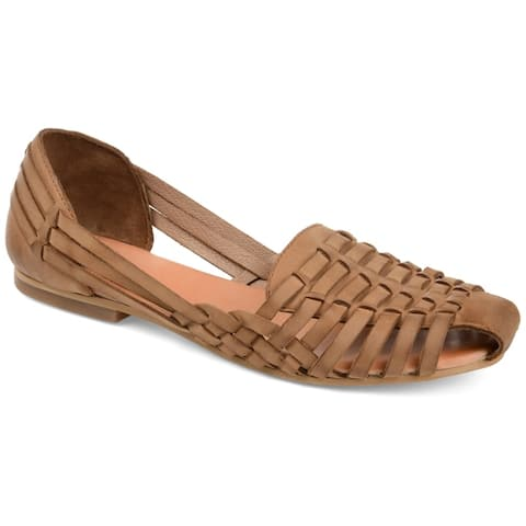 Journee Signature Womens Rilee Leather Sandal