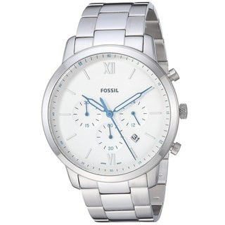 Fossil Men's FS5433 'Neutra' Silver-Toned Stainless Steel Chronograph Watch