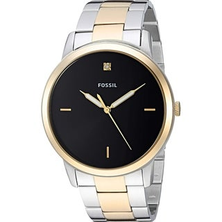 Fossil Men's FS5458 'The Minimalist' Silver and Gold-Tone Stainless Steel Watch