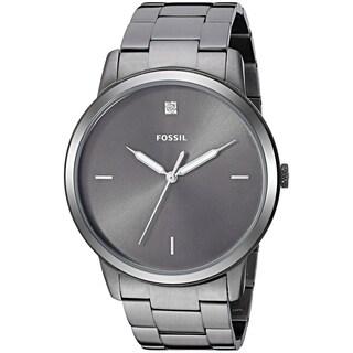 Fossil Men's FS5456 'Minimalist' Grey Gunmetal Plated Stainless-Steel Watch