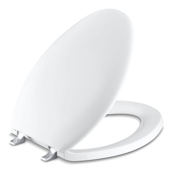 Shop Kohler Bancroft Plastic Elongated Toilet Seat K 4685
