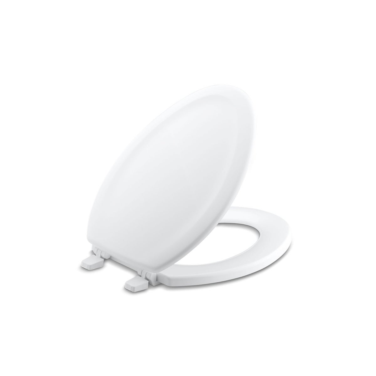 Magnificent Kohler Stonewood Wood Elongated Toilet Seat K 4814 0 White Machost Co Dining Chair Design Ideas Machostcouk
