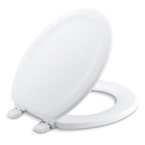 Kohler Stonewood Wood Round Toilet Seat K-4648-0 White