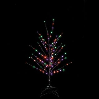 Santa's Best Twig Tree Lighted 24 in. H x 18 in. W x 18 in. L 1 pk Halloween Decoration