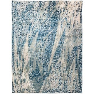 """Eclectic, Hand Knotted Area Rug - 9' 1"""" x 11' 7"""" - 9'1"""" x 11'7"""""""