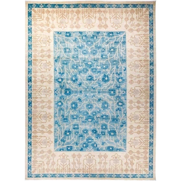 "Eclectic, Hand Knotted Area Rug - 9' 10"" x 13' 9"" - 9'10"" x 13'9"""