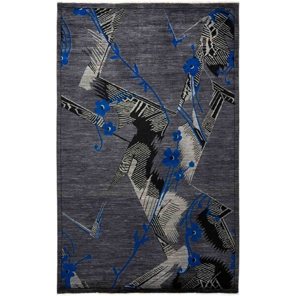 """Eclectic, Hand Knotted Area Rug - 5' 2"""" x 8' 1"""" - 5'2"""" x 8'1"""""""