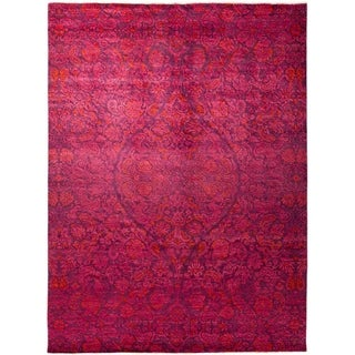 """Suzani, Hand Knotted Area Rug - 8' 10"""" x 11' 10"""" - 8'10"""" x 11'10"""""""