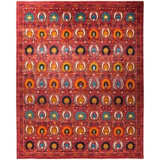 "Suzani, Hand Knotted Area Rug - 12' 1"" x 15' 0"" - 12'1"" x 15'"