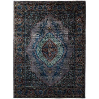 """Eclectic, Hand Knotted Area Rug - 8' 2"""" x 9' 7"""" - 8'2"""" x 9'7"""""""