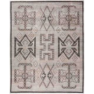 """African, Hand Knotted Area Rug - 7' 10"""" x 9' 10"""" - 7' 10"""" x 9' 10"""""""