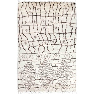 "Moroccan, Hand Knotted Area Rug - 5' 2"" x 8' 1"" - 5'2"" x 8'1""/Surplus"