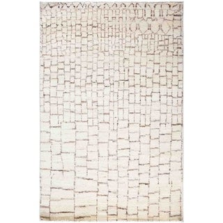 """Moroccan, Hand Knotted Area Rug - 4' 1"""" x 6' 2"""" - 4'1"""" x 6'2"""""""