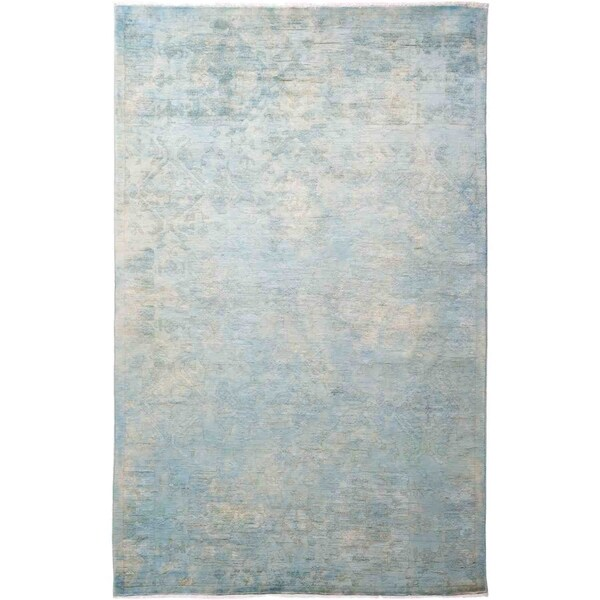 """Vibrance, Hand Knotted Area Rug - 5' 2"""" x 8' 1"""" - 5'2"""" x 8'1""""/Surplus"""