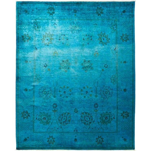 """Vibrance, Hand Knotted Area Rug - 8' 1"""" x 9' 9"""" - 8'1"""" x 9'9"""""""