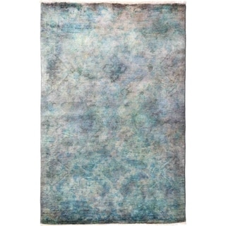 """Vibrance, Hand Knotted Area Rug - 4' 1"""" x 6' 4"""" - 4'1"""" x 6'4"""""""