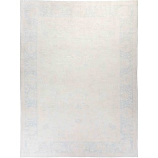 """Silky Oushak, Hand Knotted Area Rug - 9' 1"""" x 11' 10"""" - 9'1"""" x 11'10"""""""