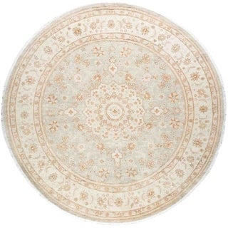 """Silky Oushak, Hand Knotted Area Rug - 7' 7"""" x 7' 7"""" - 7'7"""" x 7'7"""""""