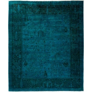 "Vibrance, Hand Knotted Area Rug - 8' 1"" x 9' 8"" - 8'1"" x 9'8"""