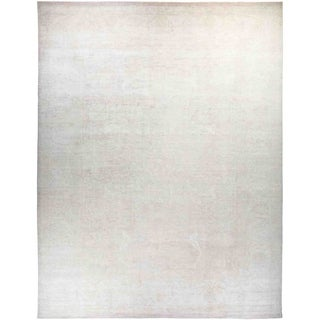 """Silky Oushak, Hand Knotted Area Rug - 12' 6"""" x 16' 5"""" - 12'6"""" x 16'5"""""""