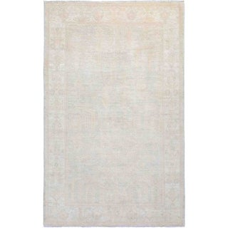 """Silky Oushak, Hand Knotted Area Rug - 4' 10"""" x 7' 10"""" - 4'10"""" x 7'10"""""""