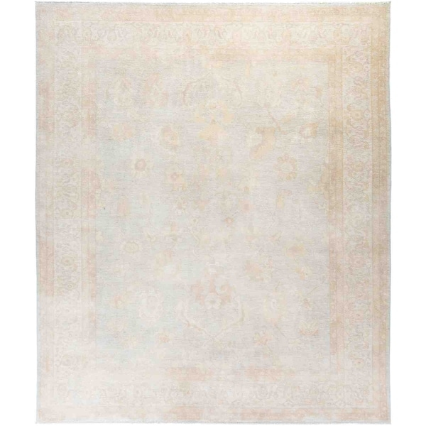 """Silky Oushak, Hand Knotted Area Rug - 8' 3"""" x 9' 10"""" - 8'3"""" x 9'10"""""""
