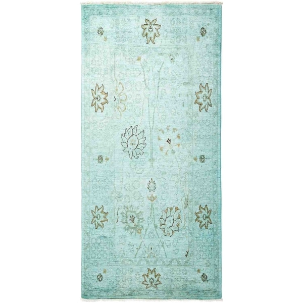"""Vibrance, Hand Knotted Area Rug - 4' 0"""" x 6' 3"""" - 4' x 6'3"""""""