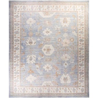 """Oushak, Hand Knotted Area Rug - 12' 2"""" x 14' 9"""" - 12'2"""" x 14'9"""""""