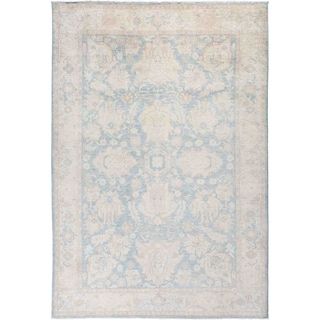 """Silky Oushak, Hand Knotted Area Rug - 6' 0"""" x 8' 9"""" - 6' x 8'9"""""""