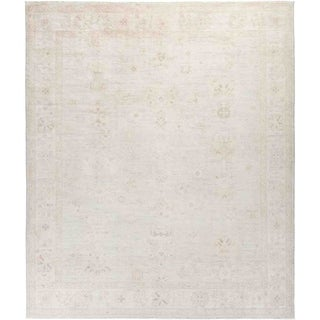 """Silky Oushak, Hand Knotted Area Rug - 8' 3"""" x 9' 8"""" - 8'3"""" x 9'8"""""""