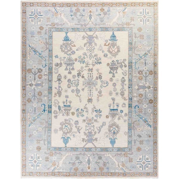 """Oushak, Hand Knotted Area Rug - 9' 2"""" x 11' 9"""" - 9'2"""" x 11'9"""""""