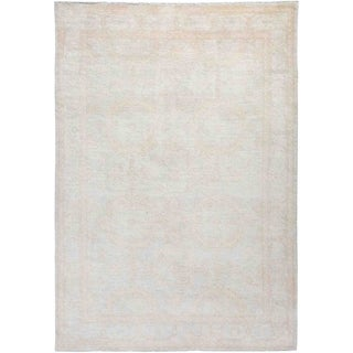 """Silky Oushak, Hand Knotted Area Rug - 6' 1"""" x 8' 9"""" - 6'1"""" x 8'9"""""""