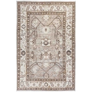 """Oushak, Hand Knotted Area Rug - 5' 10"""" x 8' 8"""" - 5'10"""" x 8'8"""""""